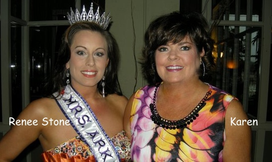 Mrs. Arkansas 2013 and Karen Laing